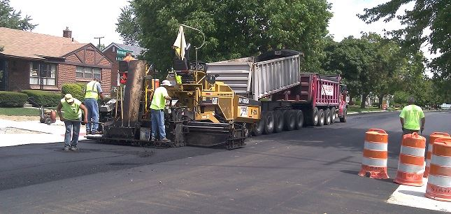 New Paving asphalt