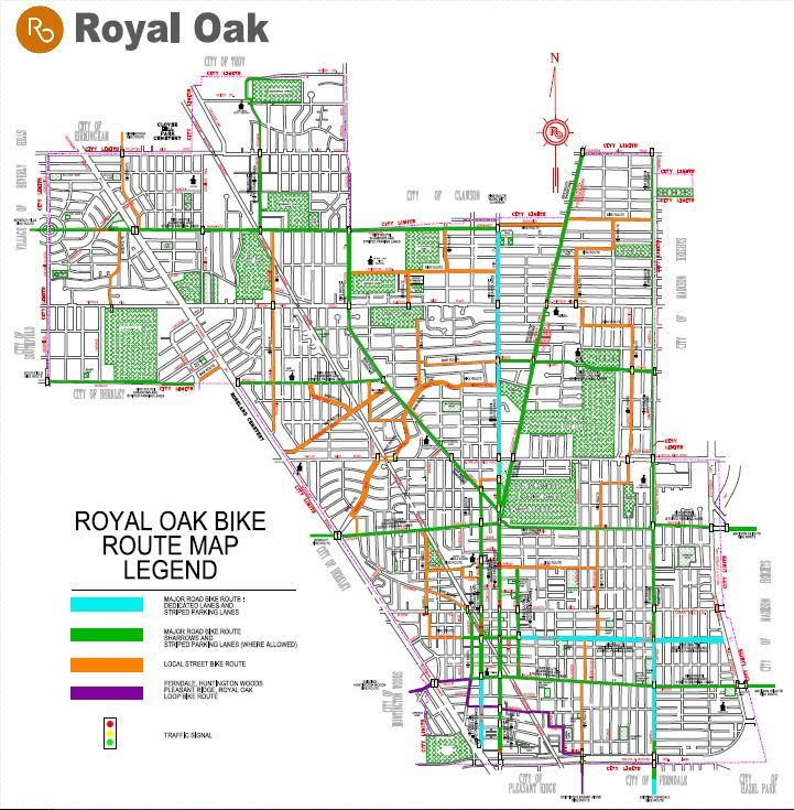 Bike route map 2018